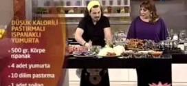 Ispanaklı Pastırmalı Yumurta,